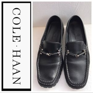 COLE HAAN Black Leather Flats Size 8.5